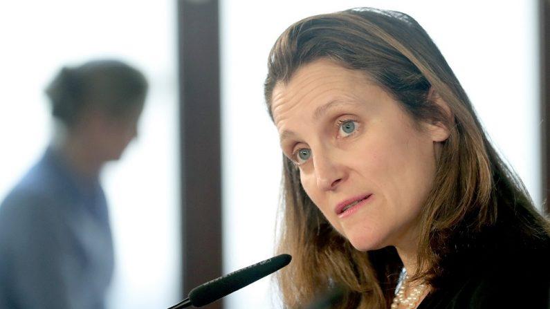 Ministra de Relaciones Exteriores de Canadá, Chrystia Freeland. Canadá convoca una reunión del Grupo de Lima para tratar crisis en Venezuela. (EFE)