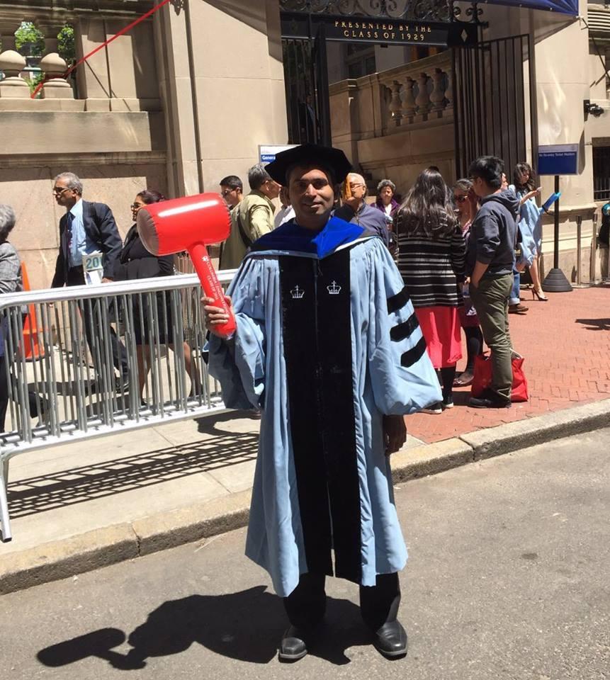 Suman obtuvo un doctorado. en la Universidad de Columbia. (Crédito: cortesía de S. Srinivasan)