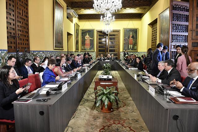 Reunión de Ministros de Relaciones Exteriores del Grupo de Lima, realizada en el Palacio de Torre Tagle. (Ministerio de Relaciones Exteriores de Perú)