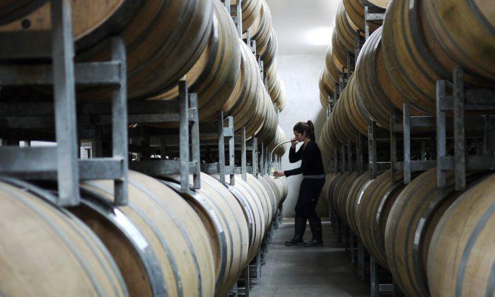 Una foto sin fecha de barriles de vino en Australia. (Cortesía de Wine Australia)