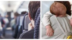Papá aterrado viaja solo con su bebé en avión pero una extraña hace algo que derrite su corazón