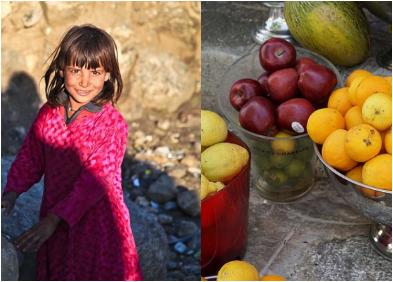 La gran actitud de una niña y su padre llena de alegría el corazón de una niña vendedora de frutas