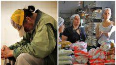Hombre sin hogar halla una bolsa llena de dinero y con generosidad se la da a un banco de alimentos