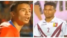 Futbolista chileno le grita