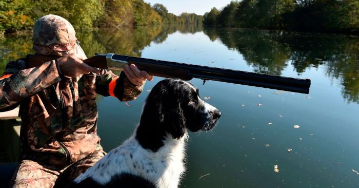 Imagen representativa. Un cazador de aves con un perro Springer Spaniel. (Foto de JEAN-FRANCOIS MONIER/AFP/Getty Images)