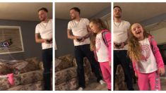 Filman instante en que un padre saca el diente flojo de su hija usando un drone