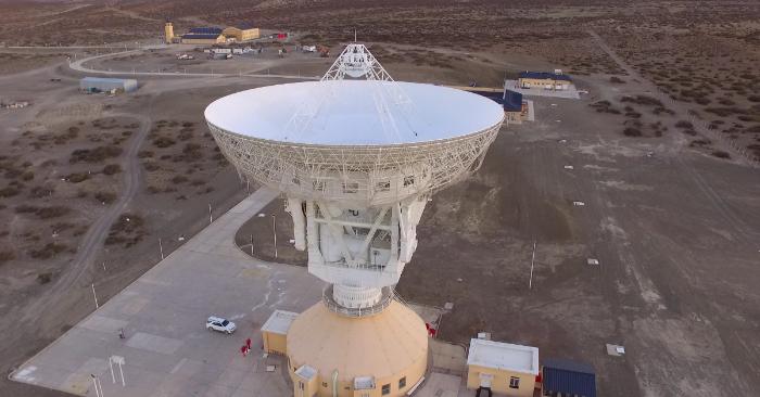 Estación espacial china en Argentina. Foto CONAE.