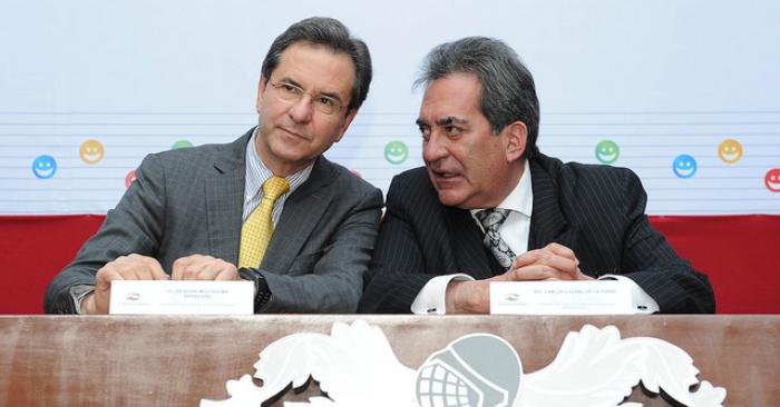 Secretario de Educación Pública, Esteban Moctezuma Barragán (I). Gobierno Aguascalientes/Flickr
