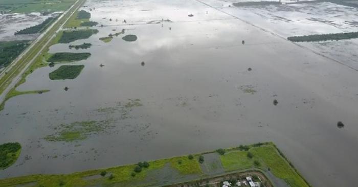 Inundaciones en Santa Fe. Foto del Instituto Nacional de Tecnología Agropecuaria (INTA)