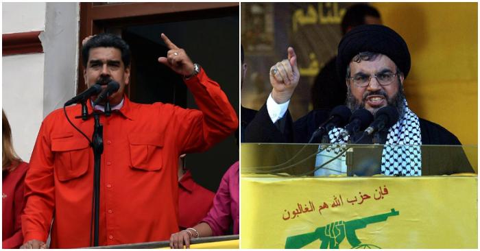 Nicolás Maduro (I) Foto de LUIS ROBAYO/AFP/Getty Images y el jefe de Hezbolá, Sheikh Hassan Nasrallah. (Foto de ANWAR AMRO/AFP/Getty Images)