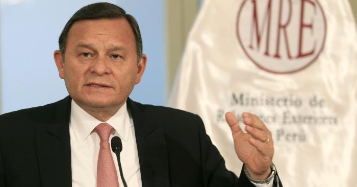 El ministro peruano de Relaciones Exteriores, Néstor Popolizio. EFE/Archivo