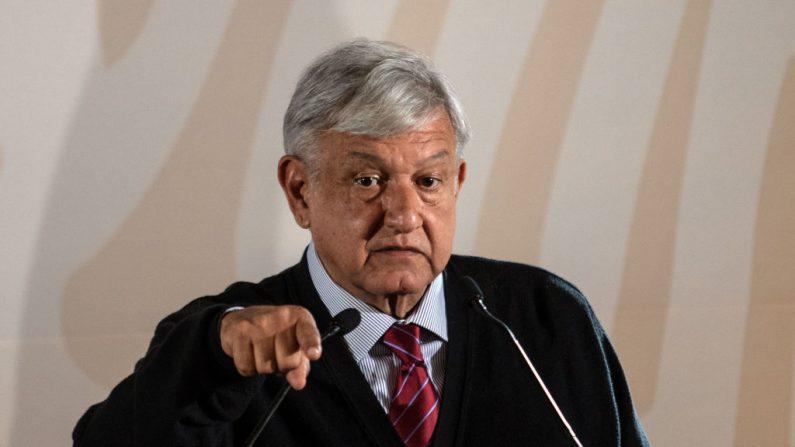 El presidente de México, Andrés Manuel López Obrador, el 6 de enero de 2019. (Foto de GUILLERMO ARIAS/AFP/Getty Images)