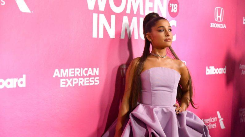 La cantante Ariana Grande asiste a la Billboard Women In Music 2018de Nueva York. (Foto de Mike Coppola/Getty Images para Billboard)
