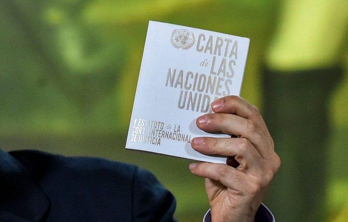 La ONU cifra en 40 los muertos y 850 los detenidos en actos de apoyo a Guaidó. (Foto de LUIS ROBAYO / AFP) (El crédito de la foto debe leer LUIS ROBAYO/AFP/Getty Images)