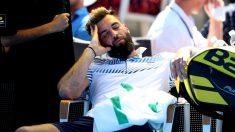 El tenista francés Benoit Paire se duerme en pleno partido