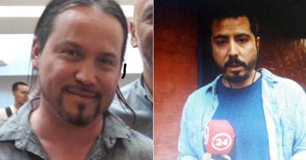 Los reporteros chilenos Rodrigo Pérez y Gonzalo Barahona detenidos desde las 20 horas del 29 de enero de 2018 frente al palacio de Miraflores, Venezuela (Sindicato nacionald de Trabajadores Periodistas)