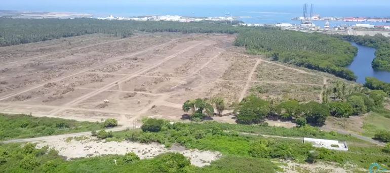 Terreno deforestado de la refinería Dos Bocas (Vídeo)