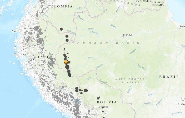 Terremoto en Brasil de 6,8 grados estremece lo profundo del Amazonas