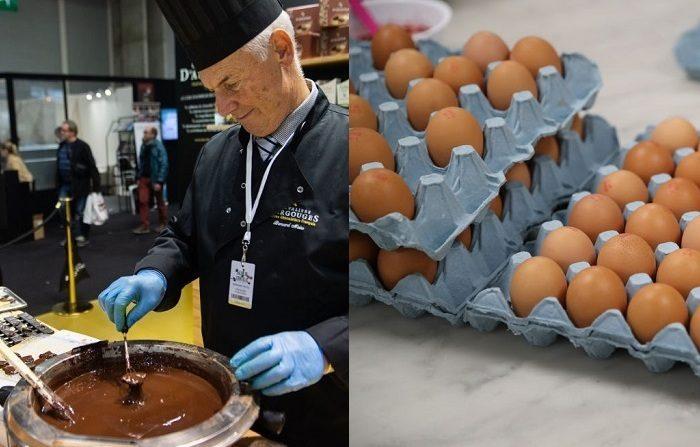 Montage de imágenes de huevos y chocolate (Photo by - / AFP) (Photo credit should read -/AFP/Getty Images) y (Photo by Chris Jackson - WPA Pool/Getty Images)