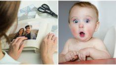 """Cuando este bebé mira la foto de su papá que ya no está en este mundo parece que ve """"algo más"""""""