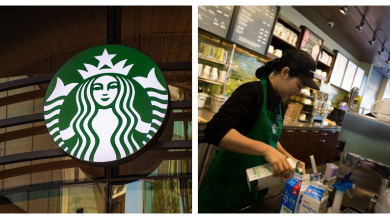 Starbucks (Crédito: Waldo Swiegers/Bloomberg via Getty Images | SeongJoon Cho/Bloomberg via Getty Images)