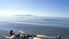 """Dron capta maravillosas imágenes del Gran Lago Salado de Utah, el """"Mar Muerto de América"""""""
