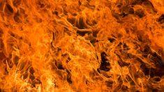 Joven se cuelga del séptimo piso con la mano y rescata dos niñas del piso de abajo envuelto en llamas