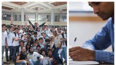 Un maestro de Brasil sin salario ni hogar llora desconsolado ante la inesperada sorpresa de sus alumnos