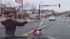 Tribunales revelan cómo fue que la niña de Minnesota cayó del auto en el vídeo viral