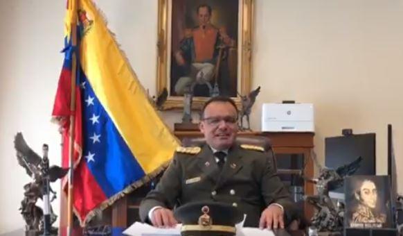 El coronel José Luis Silva Silva,anunció al al pueblo de Venezuela y en especial a las Fuerzas Armadas de la Nacion reconocer como único presidente legitimo al presidente Juan Guaidó (Captura de vídeo)