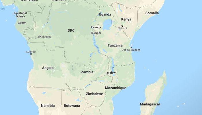 Imagen de Google Maps mostrando África Oriental, incluyendo Tanzania (Google Maps)