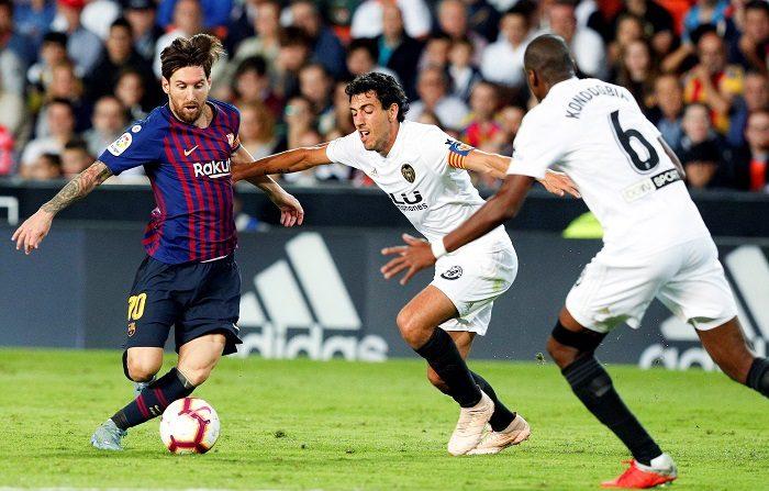 Solari prefiere un clásico con Messi en el campo. EFE/Kai Försterling