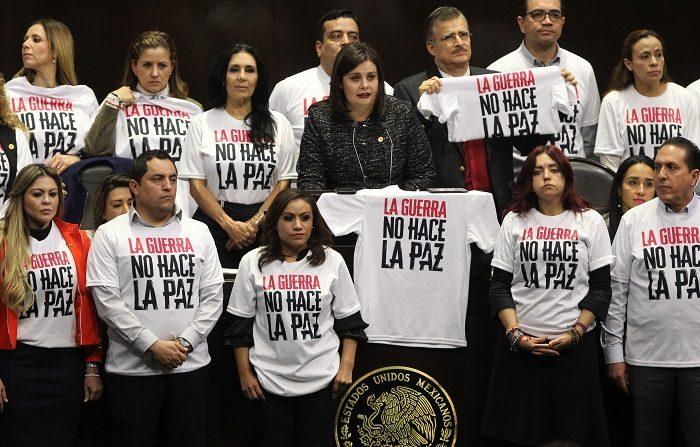 """Grupos de Trabajo y Relatores de ONU-Derechos Humanos expresaron su """"grave preocupación"""" ante un proyecto de reforma constitucional que dará paso a la creación de la Guardia Nacional en México. EFE/Mario Guzmán"""