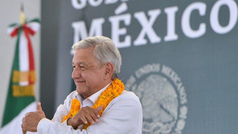 Presidente mexicano Andrés Manuel López Obrador, durante un acto protocolar en la ciudad de Iguala, en el estado de Guerrero, México. (Presidencia de México)