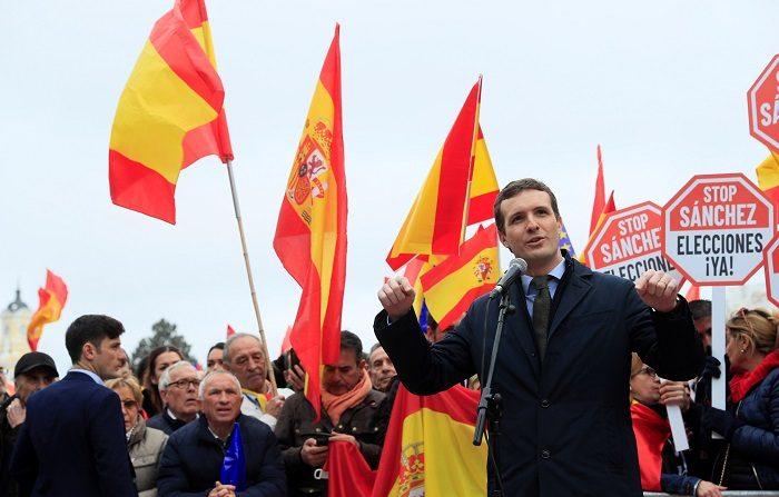 El diputado y presidente del Partido Popular, Pablo Casado. EFE/Fernando Alvarado