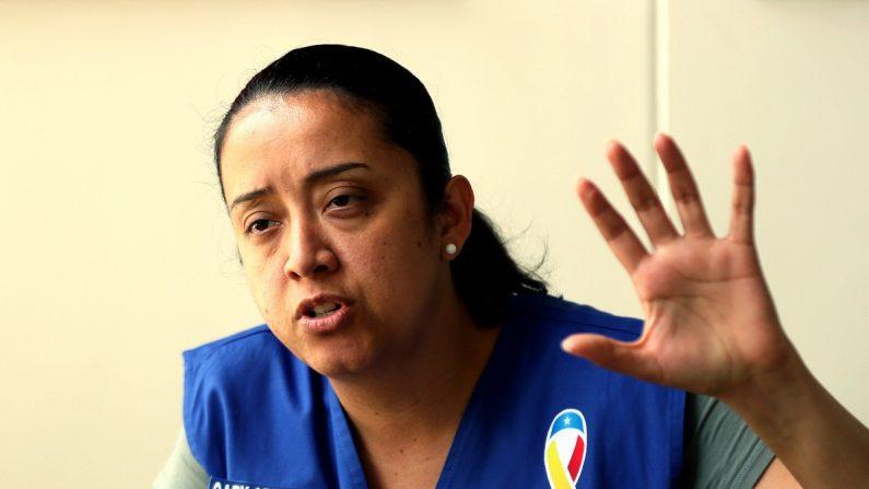 La diputada venezolana en el exilio Gaby Arellano fue registrada, durante una entrevista con Efe, en Cúcuta (Colombia). EFE