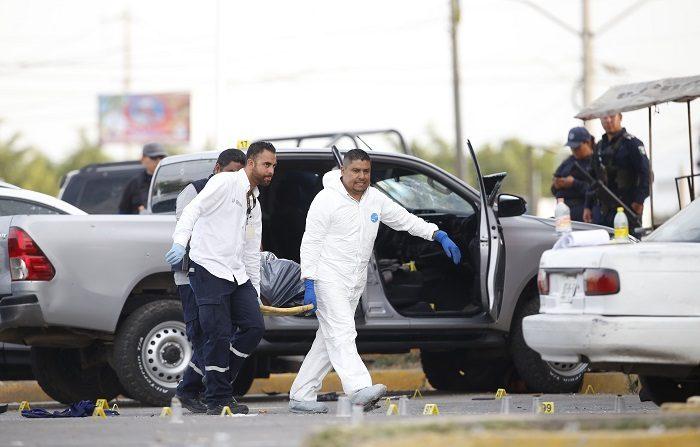 México vivió el mes de enero más violento desde que se tiene registro, con 2.853 asesinatos, según datos del Secretariado Ejecutivo del Sistema Nacional de Seguridad Pública (SESNSP). EFE/Francisco Guasco