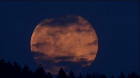 Imágenes de la espectacular Súper Luna de Nieve, la que será más brillante del Año