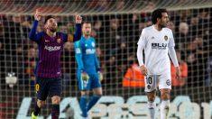 Messi padece molestias en el muslo derecho, tras empate a 2 con el Valencia