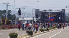 Con horas de retardo y sin público se celebra el concierto de apoyo a Maduro