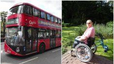 Conductor de autobús toma una drástica medida para ayudar a un hombre en silla de ruedas