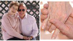 A sus 100 años toma la mano de su esposa moribunda y cumple su voto: ¡hasta que la muerte los separe!