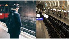 """Arriesga su vida y salta cuando ve caer a un hombre en las vías del tren, """"temí por su vida"""""""