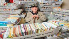 Un veterano de la II Guerra Mundial recibe más de 50.000 tarjetas y cartas por su cumpleaños 96