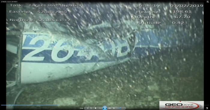 Foto de los restos del avión en que viajaba Sala. AAIB (Junta de Investigaciones de Accidentes Aéreos del Reino Unido).