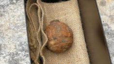Hallan granada activada de la Primera Guerra Mundial dentro de un saco de papas