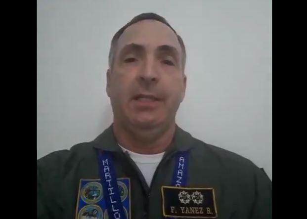 General de División Francisco Estéban Yánez Rodríguez, Director de Planificación Estratégica del Alto Mando Militar de la Aviación (Captura de vídeo)