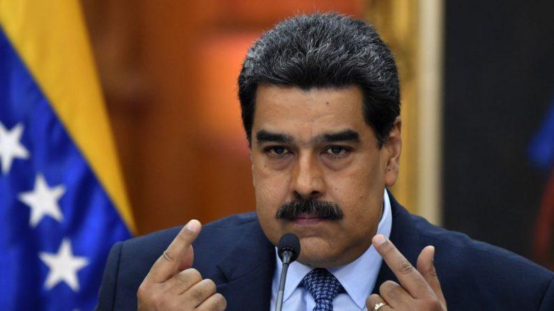 Foto de archivo de Nicolás Maduro, del 9 de enero de 2018. (YURI CORTEZ/AFP/Getty Images)