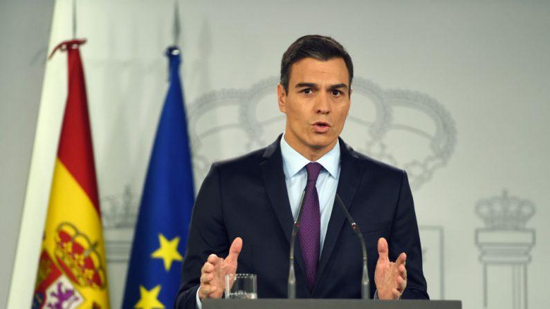 El presidente español, Pedro Sánchez (PIERRE-PHILIPPE MARCOU/AFP/Getty Images)