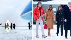 Barron Trump dio el estirón a sus 12 años y ya es más alto que su padre